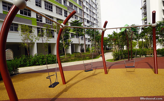 Tampines Greenview Playground swing area