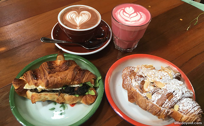 Beetroot Roselle Latte and Hot Chocolate at Tiong Bahru Bakery