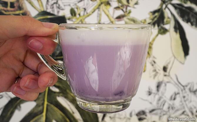 creamy pastel purple sweet potato latte