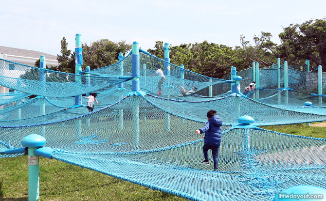 Outdoor playground at the Okinawa Aquarium