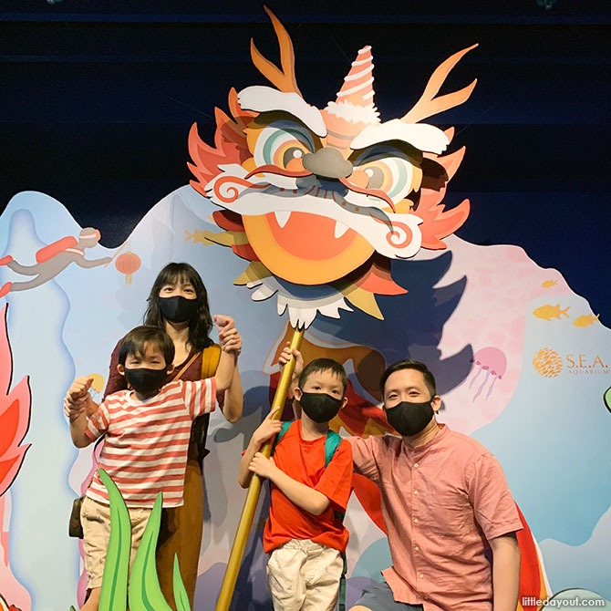 Photo opportunities at SEA Aquarium for Chinese New Year 2021