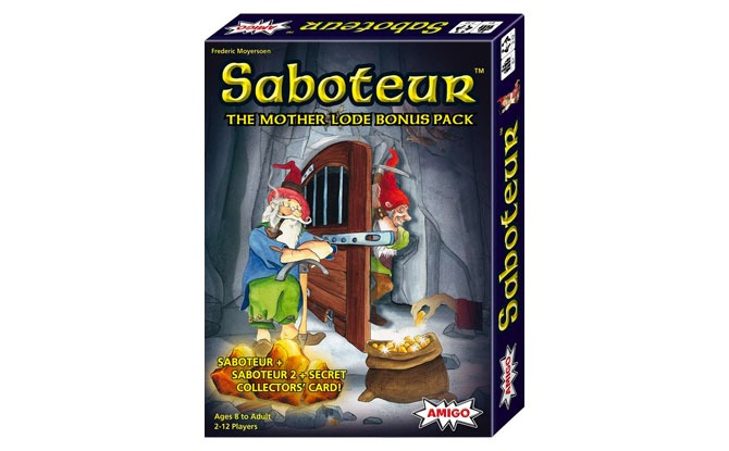 Saboteur Mother Lode Bonus Pack Card Game with Saboteur, Saboteur 2 & Secret Collectors' Card—Amazon Exclusive