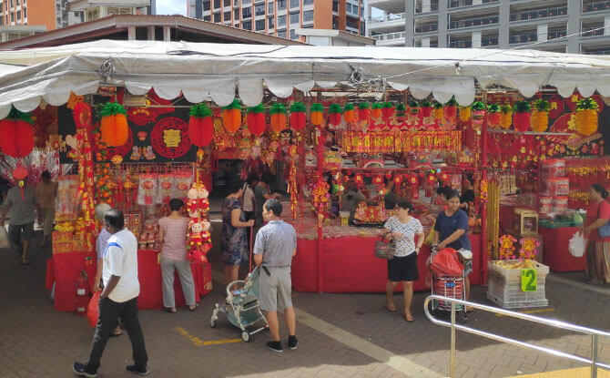 Visiting Chinese New Year Markets in the Neighbourhood