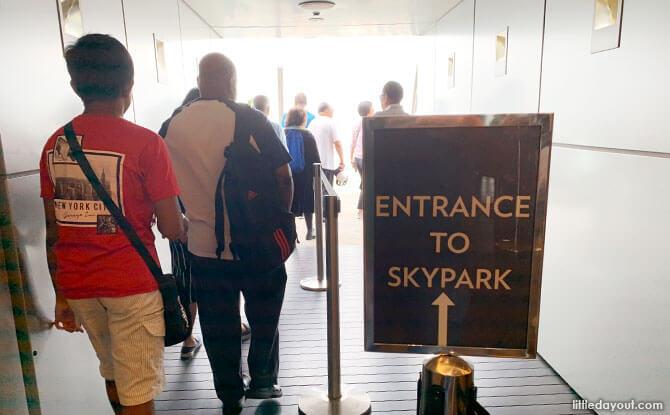 Arrive at MBS SkyPark observation deck