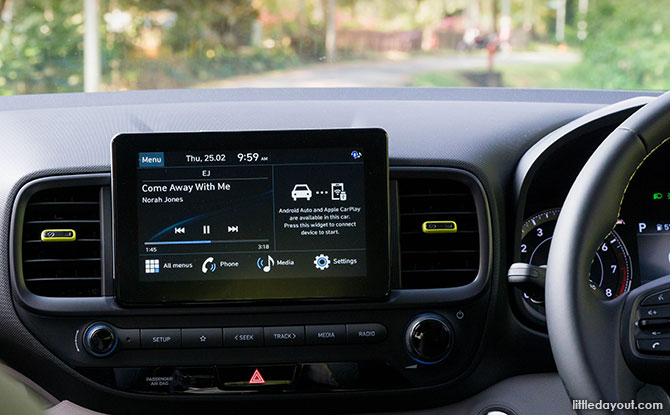 Hyundai VENUE's infotainment system