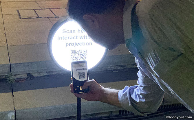 Scan QR code to interact with City Hall at Light to Night Festival 2020