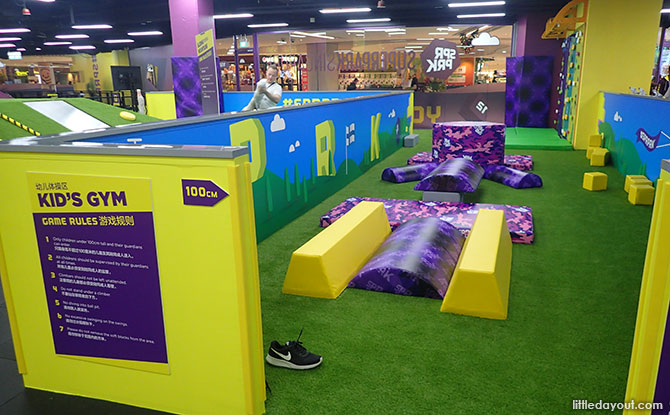 Kids Gym for younger children at SuperPark Singapore