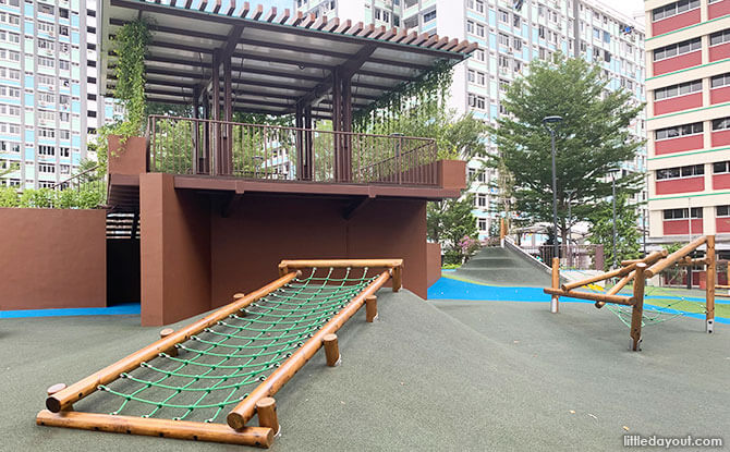 Wooden playground at Taman Jurong Park