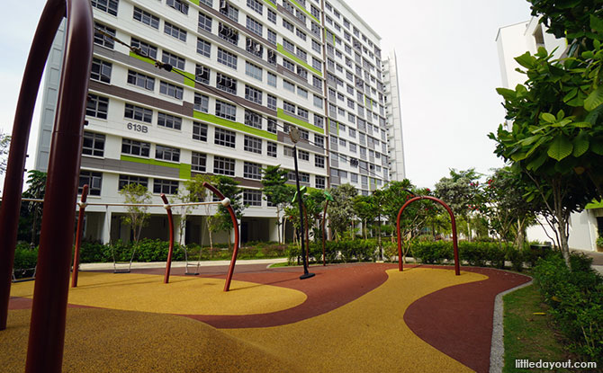 Tampines Greenview Playground Explorer Zlipline play area