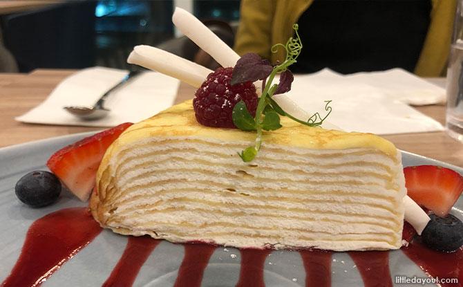 White Mille Crepe Cake