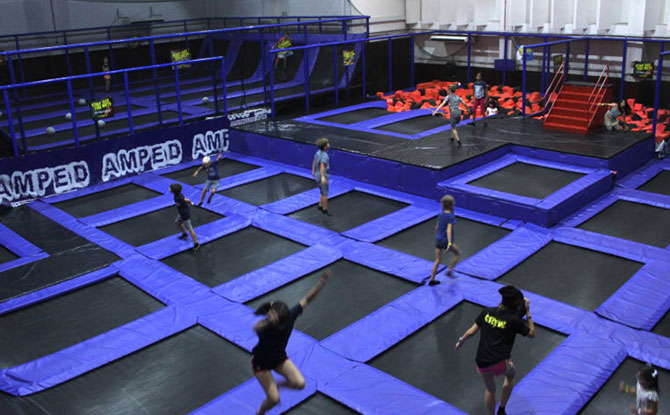 Amped trampoline park, Singapore