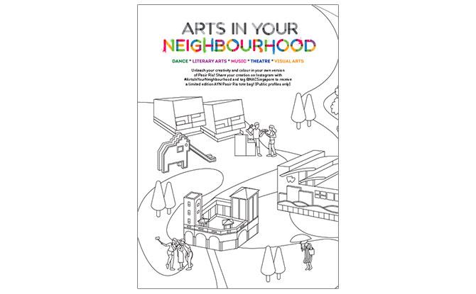 Arts in Your Neighbourhood 2021 Pasir Ris Edition Colouring Sheet
