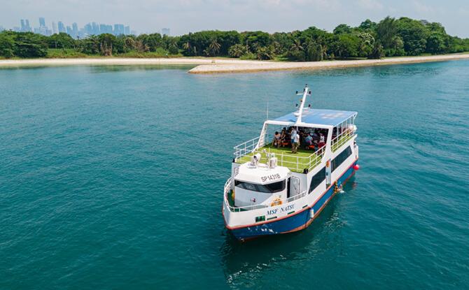 1 ferry at sea e
