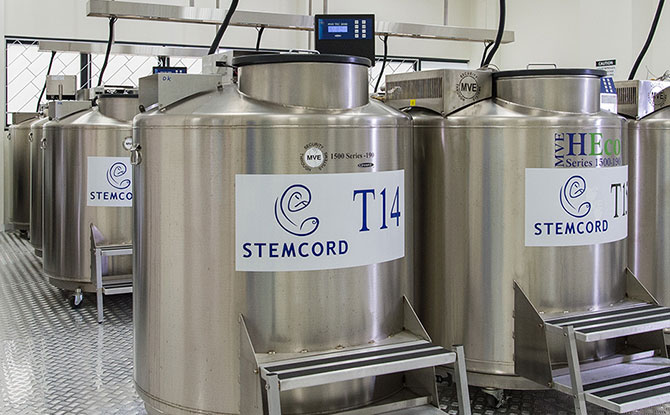 StemCord storage facilities for cord blood