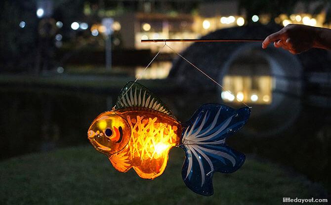 Lanterns at Toa Payoh Town Park at Night
