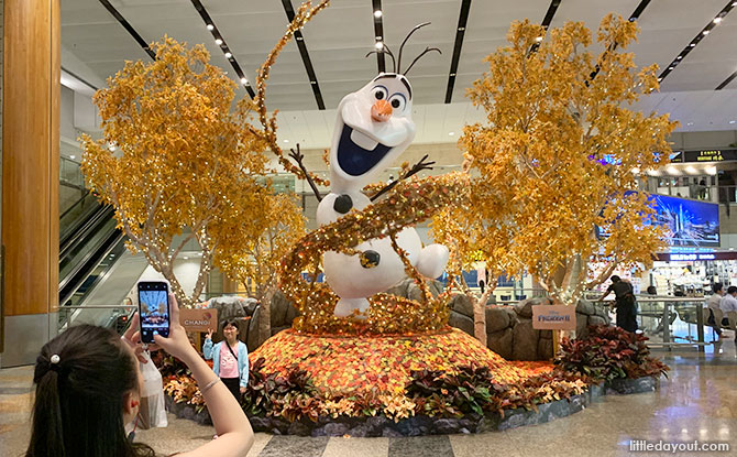 A Giant Olaf at Changi Airport Terminal 2