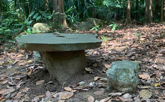 Kid Sized Picnic Table at Hindhede Nature Park