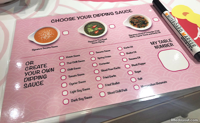customising the sauces