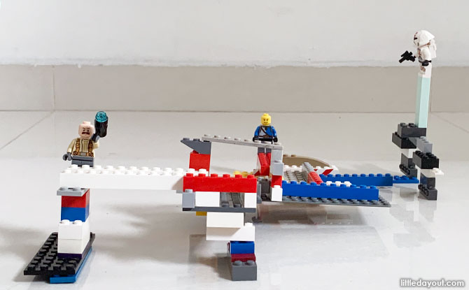 Building a LEGO Marble Rollercoaster