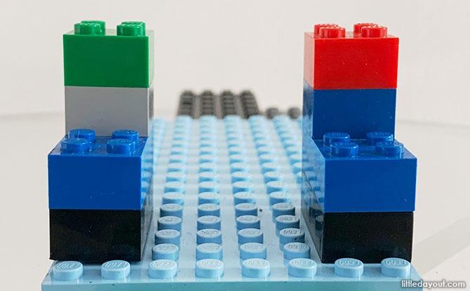 Steps for Building A LEGO Phone Holder