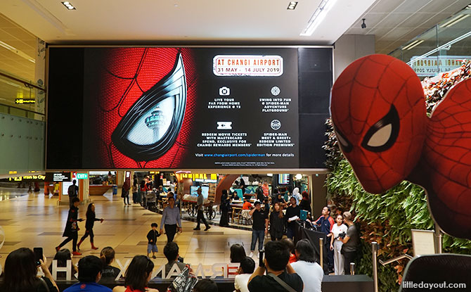 Spider-Man at Changi Airport for the June Holiday And Beyond