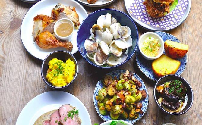 Spread of French Food from Summerhill restaurant