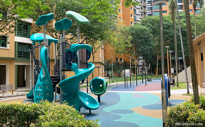 Green HDB Playground in Woodlands