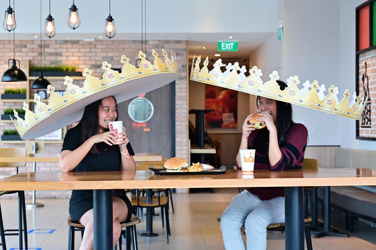 Burger King Singapore's Social Distancing Crown