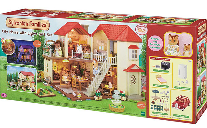 Sylvanian Families City House with Lights Gift Set