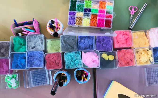 Craft materials at Happy Castle