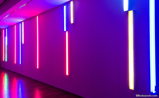 Neon Light Installations by Peter Kennedy