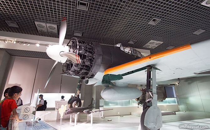 Rebuilt WWII airplane, Tokyo Museum of Nature and Science