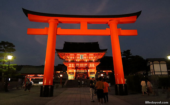 Night View of Fushimi Inari Shrine