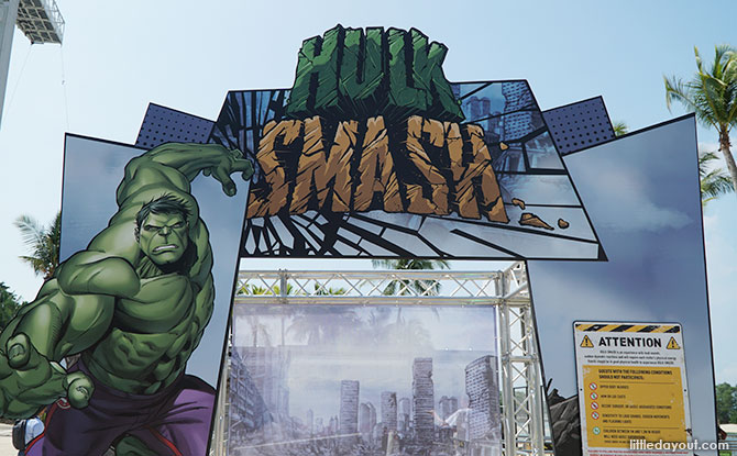 Sentosa Sandsation: MARVEL Edition - Hulk Smash station.