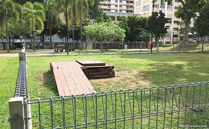 Dog run at Tampines Central Park