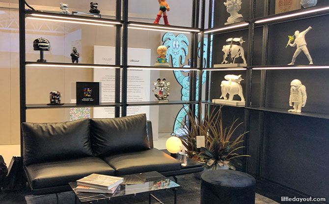 Designer lounge at BLAXK by ActionCity