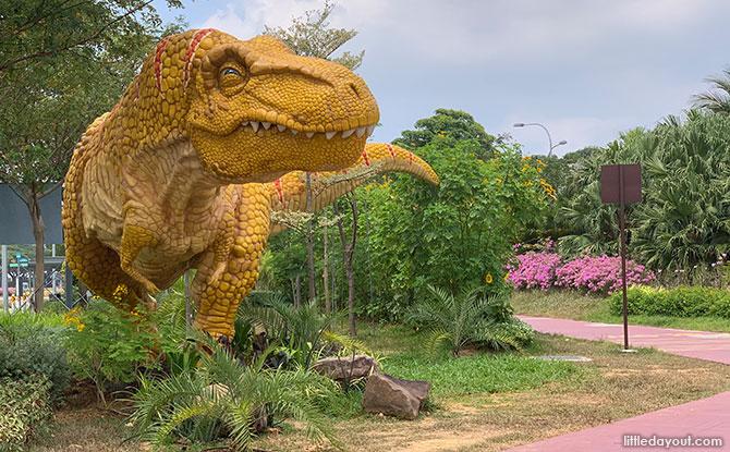 Dinosaurs at Changi Airport