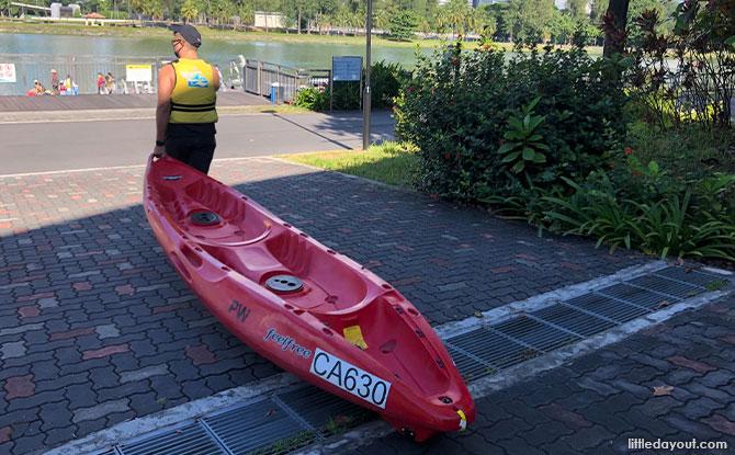 free rental of kayak equipment