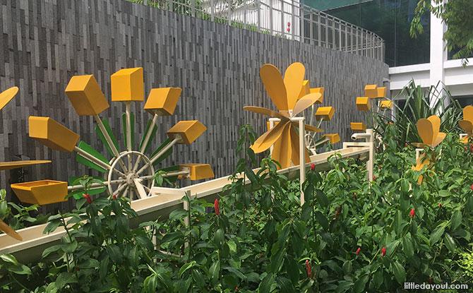 Rain Garden's Kinetic Sculpture