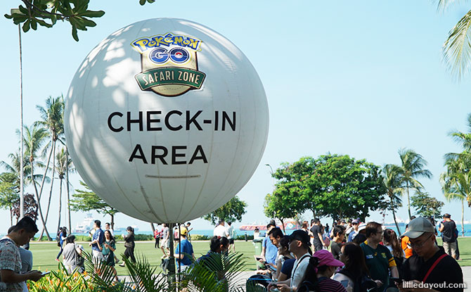 Check-in Area for the Pokemon GO Safari Zone, Palawan Green