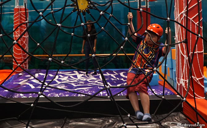 On the Spider-Man Adventure Playground at Changi Airport
