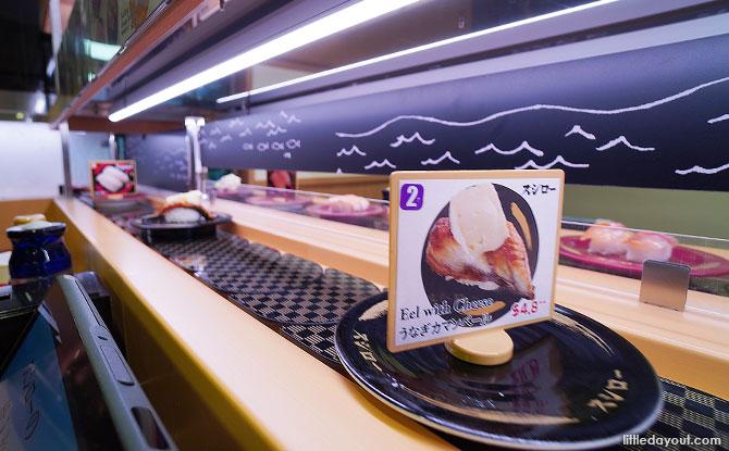 Conveyor belt sushi, Tiong Bahru Plaza, Singapore