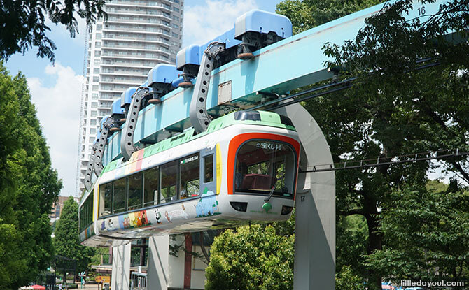 Monorail at Ueno Zoo