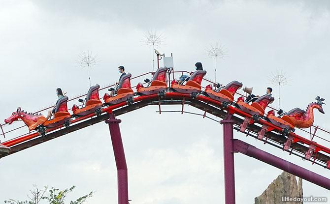 Alternate row seating on Universal Studios Singapore rides in Phase 2