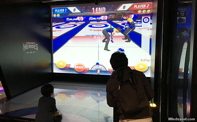 Virtual curling at VS Park