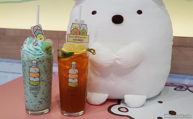 Chocolate Mint Frappe and Mango Lemonade Iced Tea