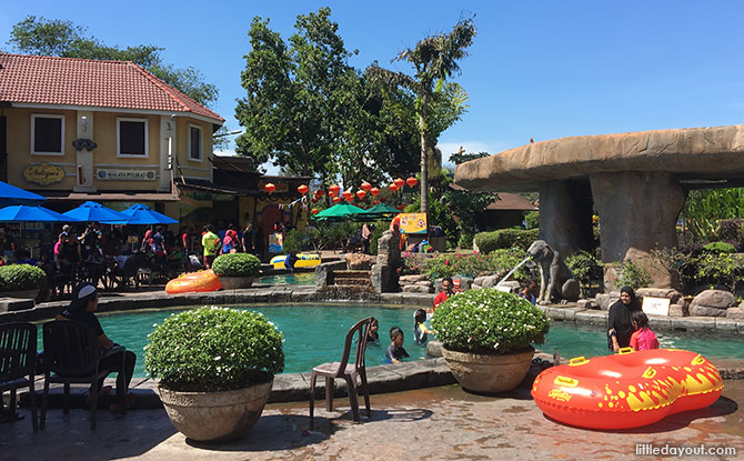 Water area at Lost World of Tambun Theme Park