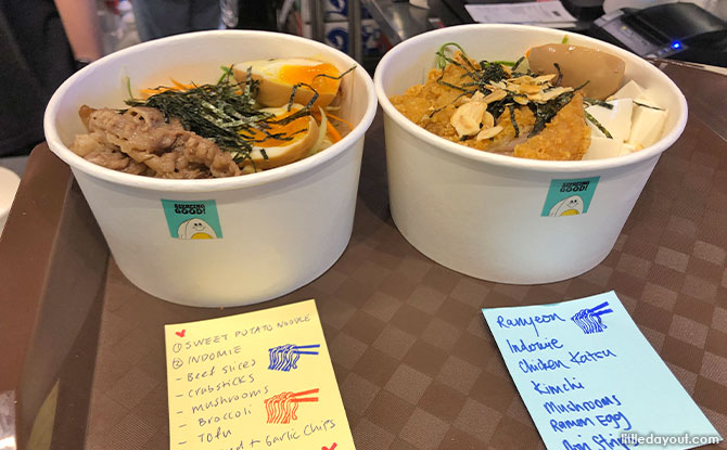 "Get a free custom bowl of noodles at ""Slurping Good"""