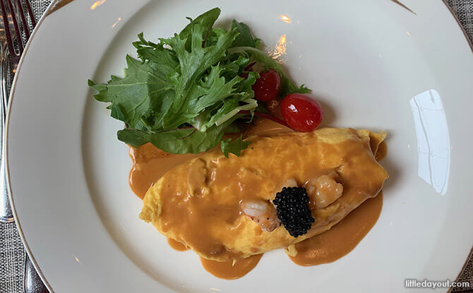 St. Regis Singapore Staycation Cooked-to-Order Signature Omelette Dish