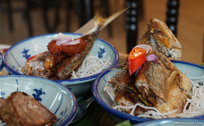 Ikan Goreng stuffed with sambal and kichap manis
